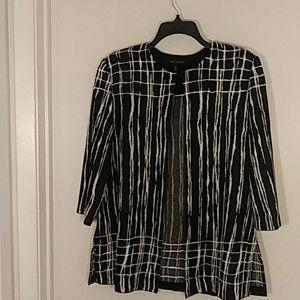 Ming Wang jacket size large black and white
